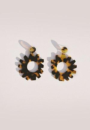 Après Ski Girasol Earrings - Tortoiseshell/Gold plated