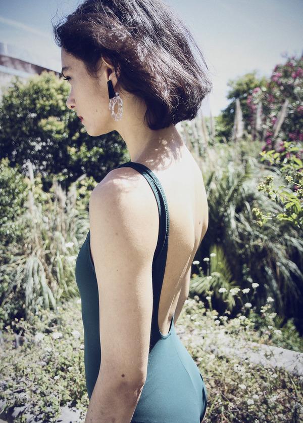 Après Ski Violeta Earrings - Transparent/Gold plated