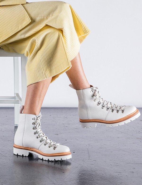 892b2c75c4a Grenson Nanette Softie Calf Ski Boot - White on Garmentory