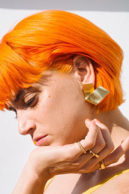 Eyde The Odeya Earrings - brass