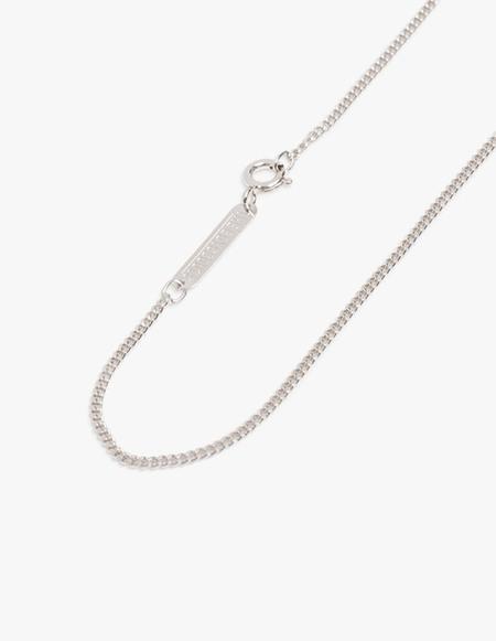 The Boyscouts Facet Cable 40cm necklace - Silver