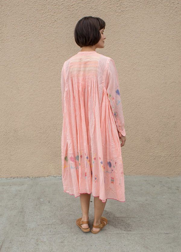 Injiri Muslin Dress - Pink