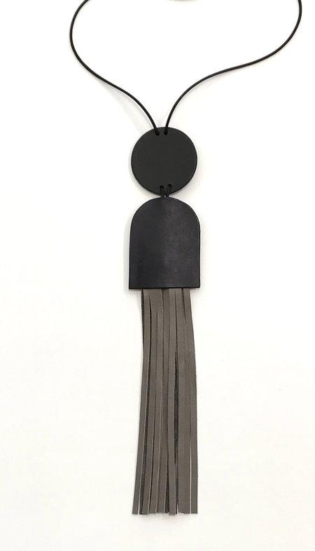 Lorraine Tuson Fringe Necklace - Grey