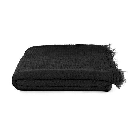 Hawkins New York Simple Linen Throw - Black