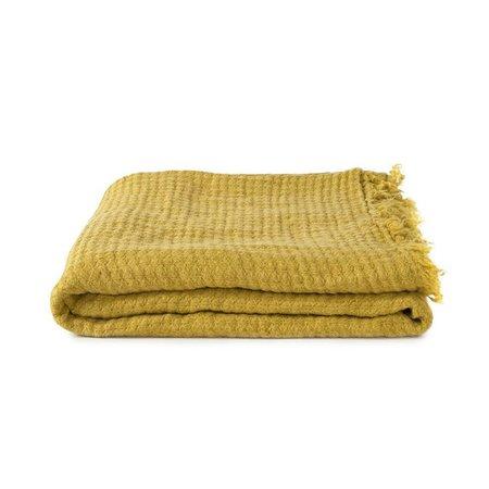 Hawkins New York Simple Linen Throw - Mustard