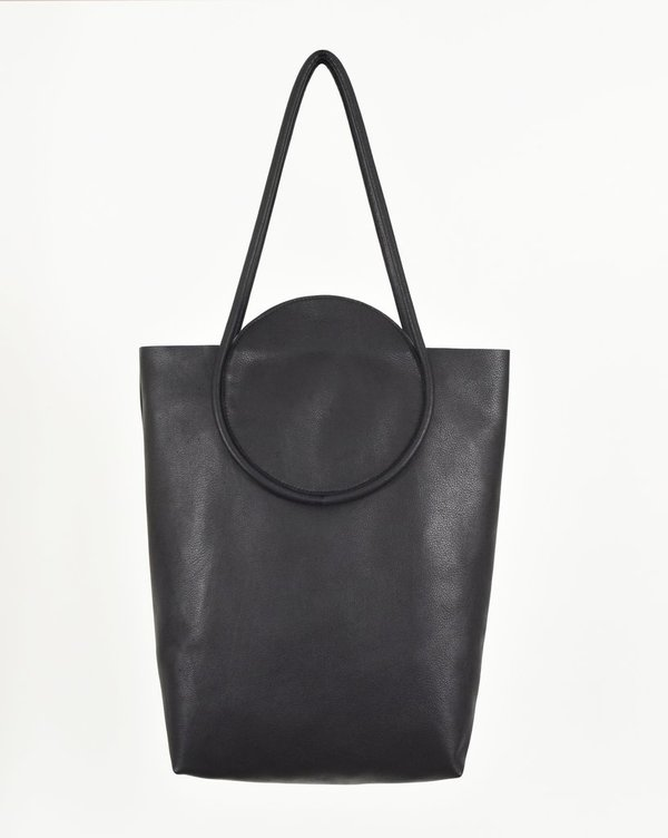 8.6.4 Leather Tote Bag - Black