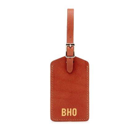 Graf Lantz Leather Travel Tag - Brandy