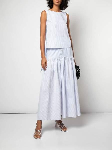 Arias Button Front Skirt - Mixed Stripe