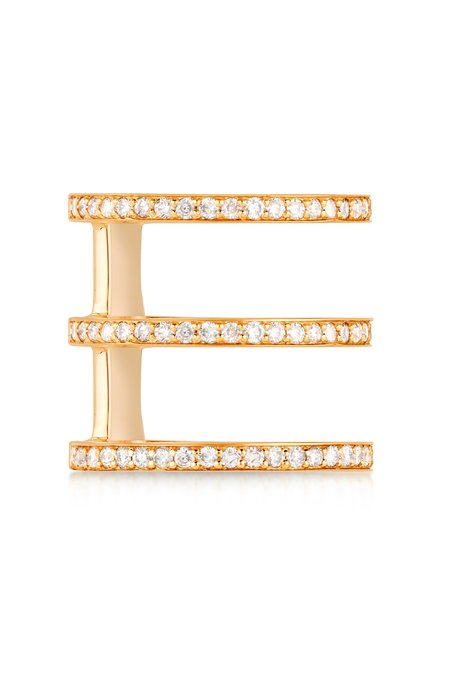 Carbon & Hyde Mikaela Ring - 14k Yellow Gold/White Diamonds