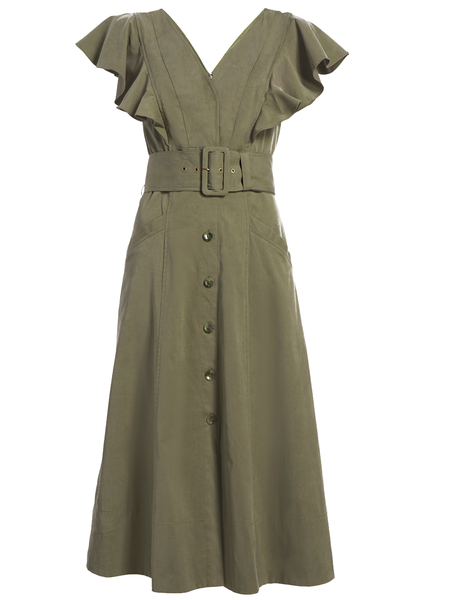 TANYA TAYLOR Inez Dress - Army