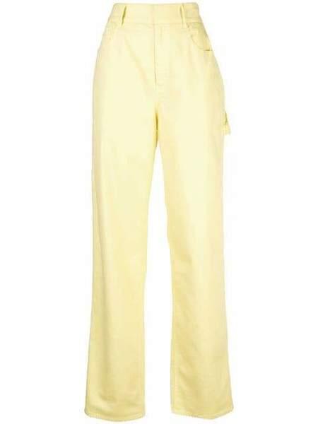 TIBI Denim Garment Dyed Spring Weight Carpenter - Citrus