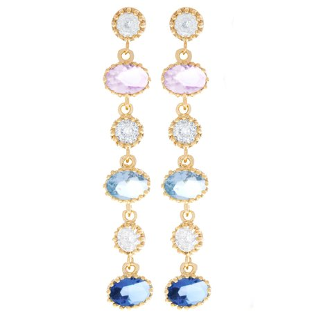 Girls Crew CINDERELLA DANGLING EARRINGS - 18K gold plated
