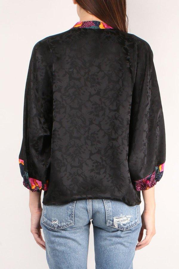 Warm Love Street Blouse - Black