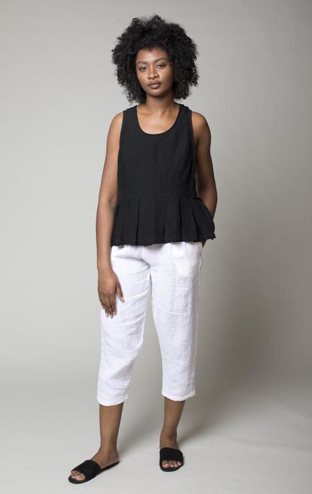 Le Vestiaire de Jeanne Linen Pants - White