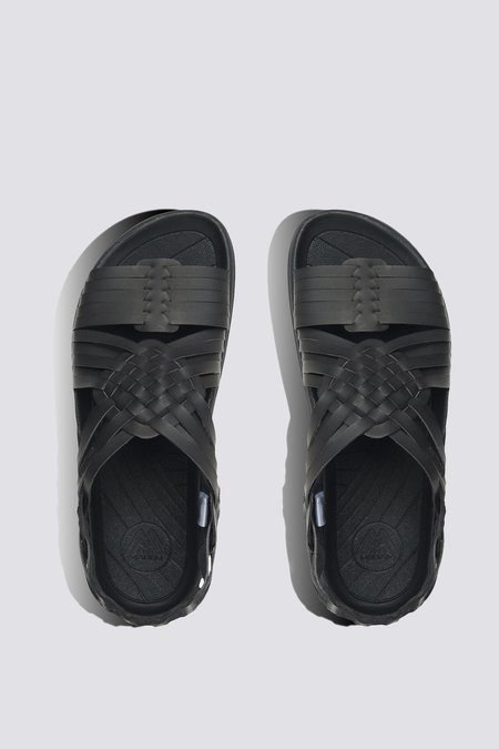 Malibu Vegan Leather Classic Canyon Sandal - black