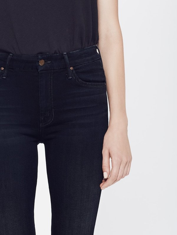 Mother Denim HIGH WAISTED LOOKER - COFFEE TEA OR ME?