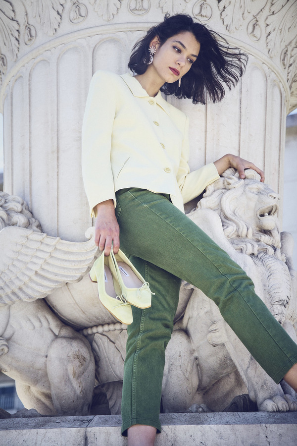Vintage Jeans - Moss Green