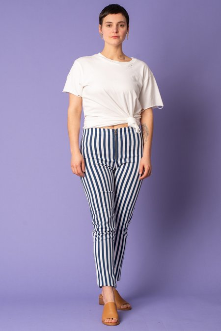 Cameo Stripe Pant - Navy