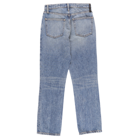 ALEXANDER WANG Cult Cropped Straight Jeans - Light Indigo Aged