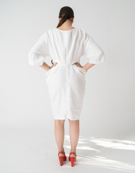 Rachel Comey Scope Dress - White Linen