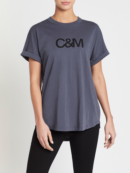 C & M Camilla And Marc Huntington Logo Tee - Navy Slate Tonal