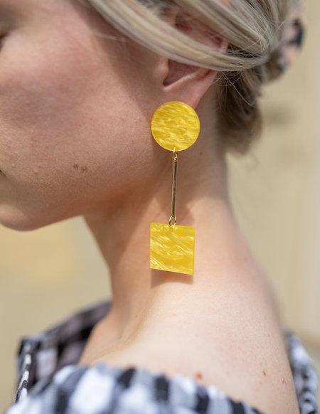 iuo Quadrate Earrings - Sun