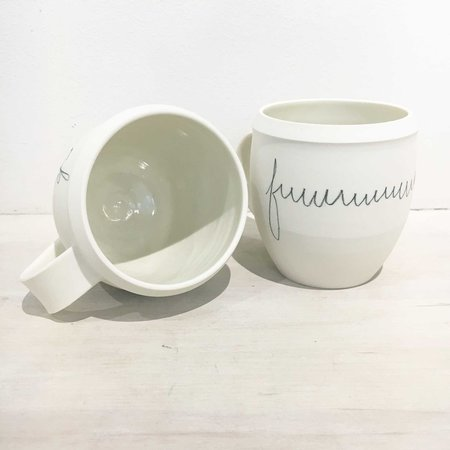 Ceramics and Theory Fuuuuck Ceramic Mug - White