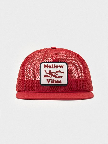 General Admission Mellow Vibes Mesh Trucker Cap - Red