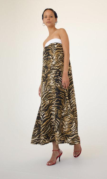 Rachel Comey Scola Dress - Brown Bengal Linen