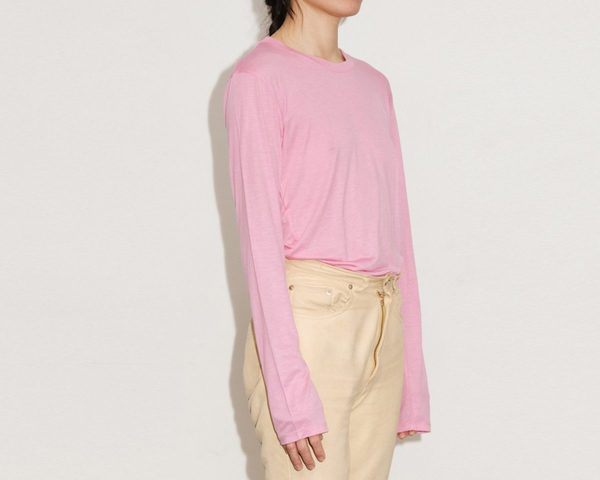 Baserange Bamboo Jersey Long Sleeve Tee - Hane Pink