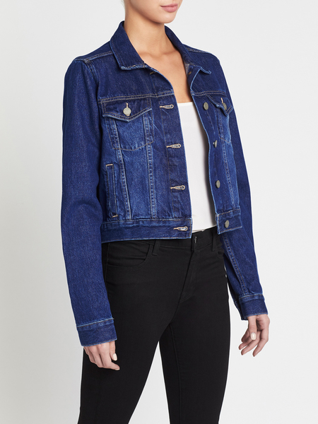 Paige Relaxed Vivienne Jacket - Mid Denim