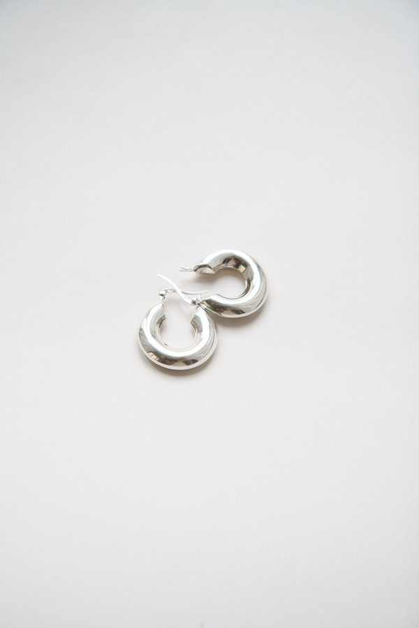 Bird on A WIRE Sterling Silver Chunky Hoops