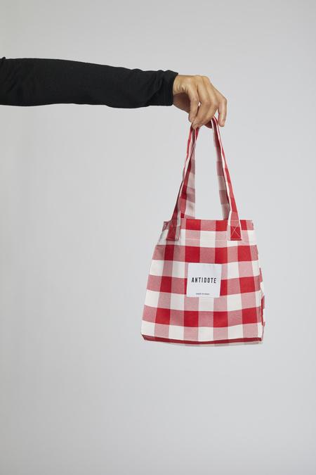 Antidote Tote Bag - Red Gingham