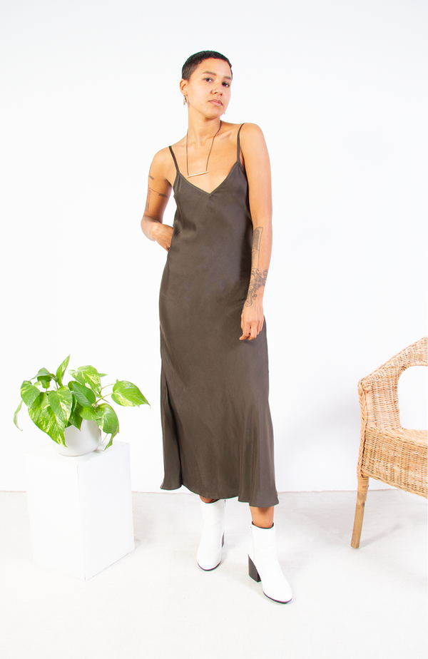 Bhoomki Cupro Slip Dress