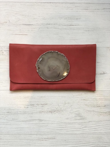 Krava LEATHER GREY STONE - RED