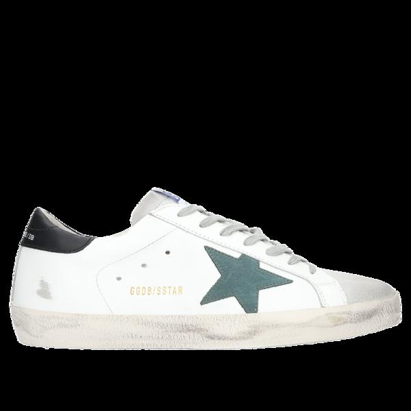 più recente a4ba9 1411e Golden Goose Sneakers Superstar - White/Pine Green Star on Garmentory