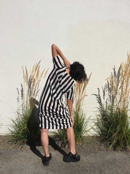 Laurs Kemp Fell Swoop Dress - Black/White Stripe