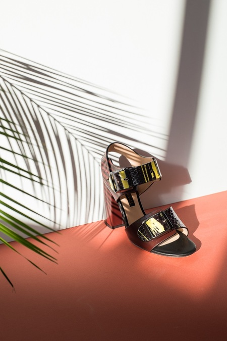 Chrissie Morris Ida sandals - Yellow Watersnake