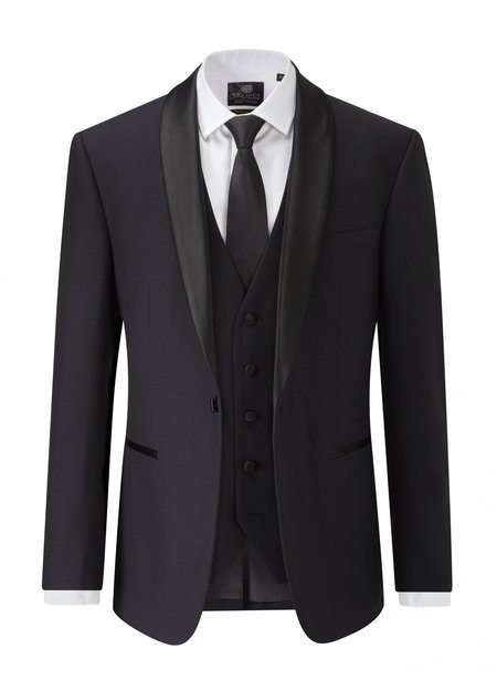 Skopes Newman Shawl Collar Tailored Fit Dinner Jacket - Black