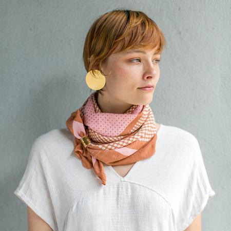 Block Shop Textiles Bernadette Scarf - Burnt Sienna