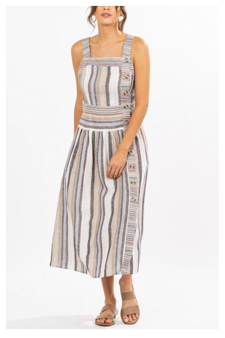 Movint Callista Striped Midi Dress