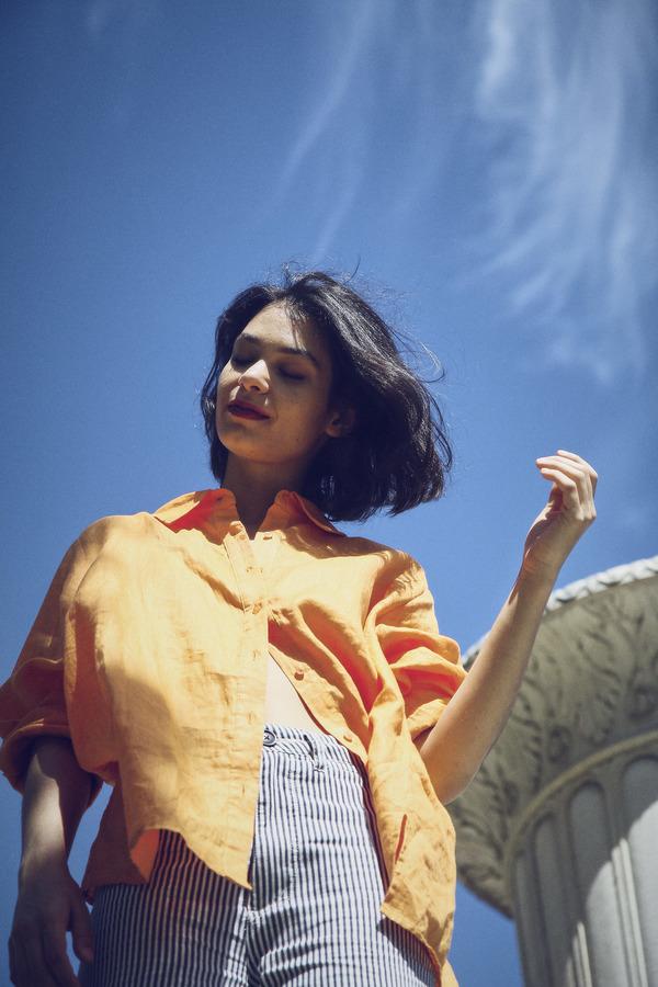 Vintage Linen Shirt - Apricot