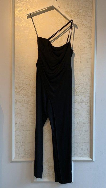 Michelle Mason Crepe Asymmetrical Jumpsuit with Drape