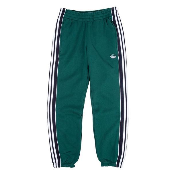adidas 3 Stripe Panel Sweatpants Collegiate Green on Garmentory