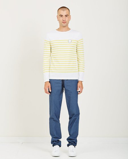 EDITIONS M.R. PATCHED YVES BRETON - STRIPED LEMON