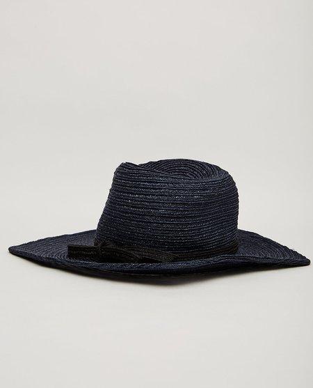 Esenshel PINCH SQUARED BRIM HAT - NAVY