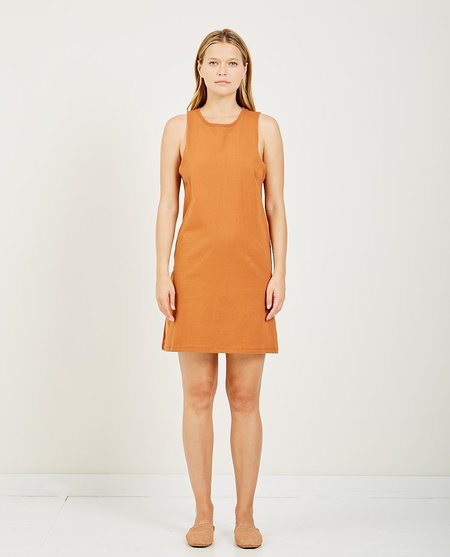 Richer Poorer TANK DRESS - TOBACCO