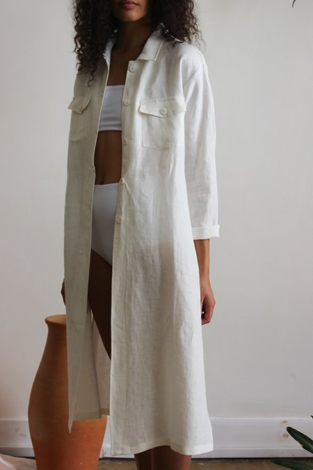 Sunad Antarctic Coat - Stone White