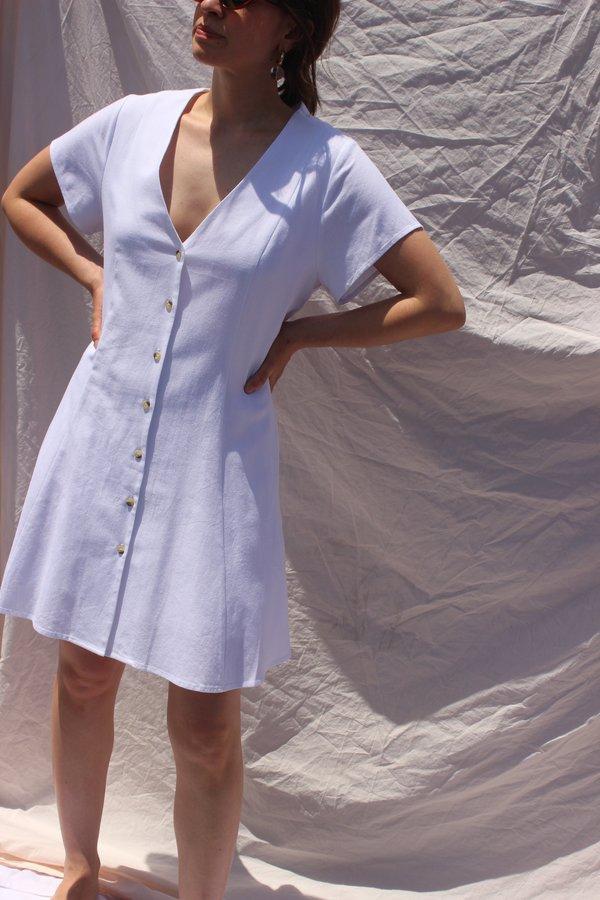 Rollas Jeans milla linen dress - white