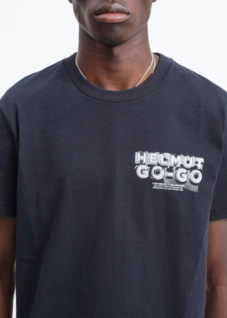 Helmut Lang Logo Hack T-Shirt - Black